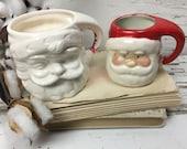 Vintage *Set of 2* Santa Mugs