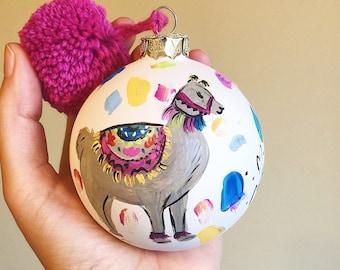 Llama ornament / christmas llama / christmas present / trendy christmas decorations / cute christmas presenr for friends