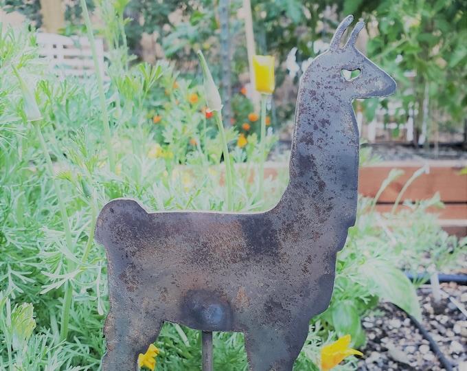 Metal Llama Garden Stake