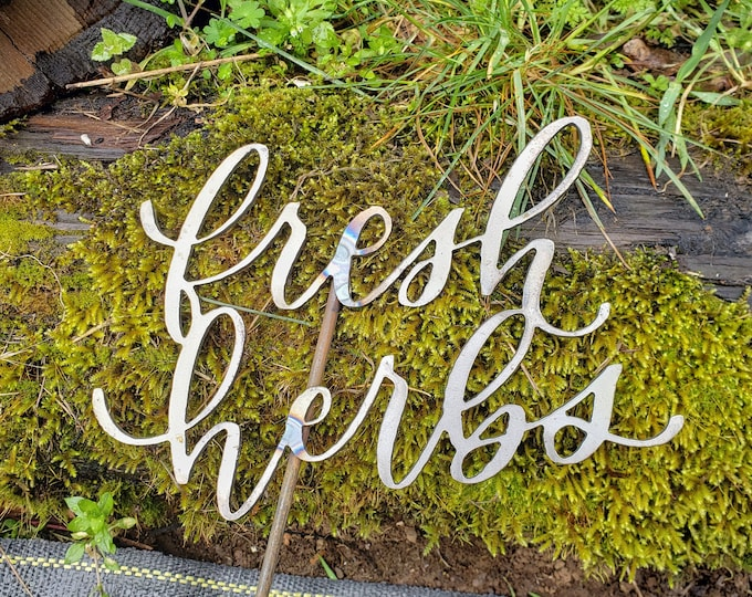 Handlettered Garden Stakes, Yard Stakes