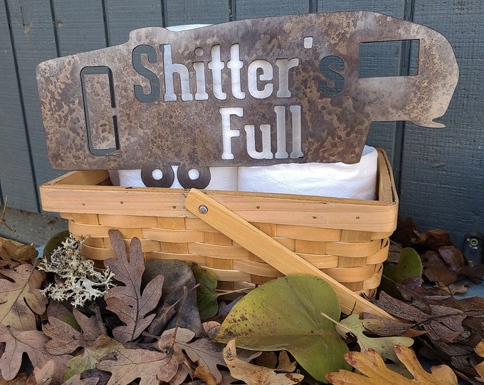 Handcrafted Metal Shitter's Full RV Decor, Metal RV decor, Metal RV