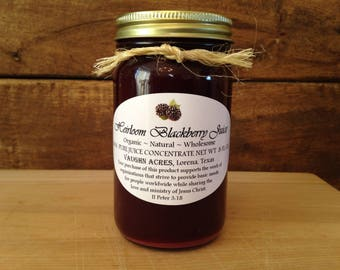 Heirloom Blackberry Juice