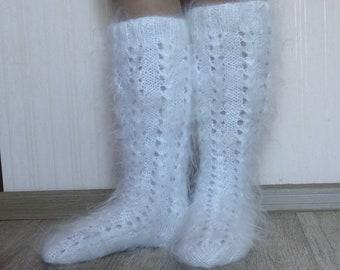 Женские трикотажные чулки.Носки для колена.Высокие носки-stocking.Мохерские чулки.Тёплые чулки.Гольфы пуховые.Пуховые чулки.Купить подарок.