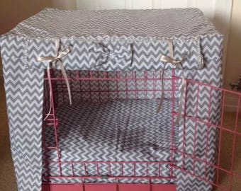 Made to measure dog / puppy crate cover/dog bed cover / pet bedding/ dog training crate
