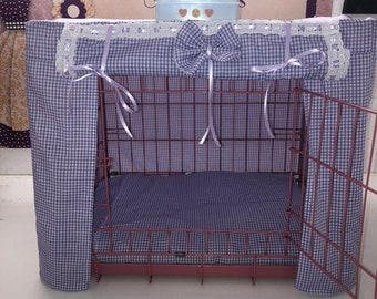 Made to measure Dog/puppy crate cage cover/ pet bed/dog bed cover/ puppy training crate