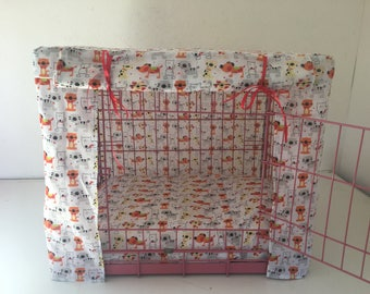 Made to measure dog crate/cage cover/ pet bed/ dog bed cover/ dog/ puppy training crate/dog bed cover