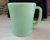Jadite Fire King Green Jade Jadeite Coffee Mug Martha Stewart Favorite Anchor Hocking Mug