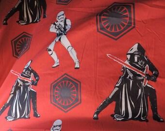 Star Wars Bed Twin Flat Sheet Force Awakens Storm Trooper and Kylo Ren Movie Characters Memorabilia Twin Flat Bedsheet Bed Linen