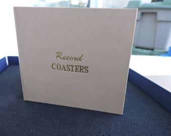 Record Coaster Set Beverage in Album Vintage Two Sets 10 Coasters Plastic Records