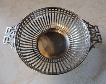 Silver Sterling 2 Handle Art Deco Candy E. S. Barnsley Dish England C. 1910