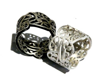 Wonderfully sleek silver ring - 925 silver