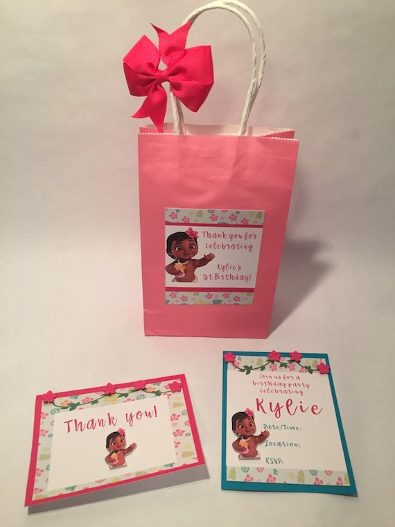 Moana Favor Bag Party Gift