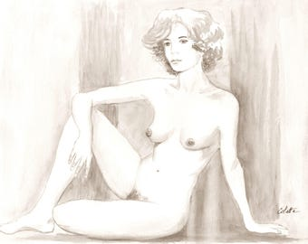 Live nude model