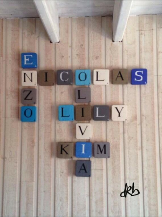 Lettre Scrabble 15x15cm En Bois Personnalisable Tableau Etsy