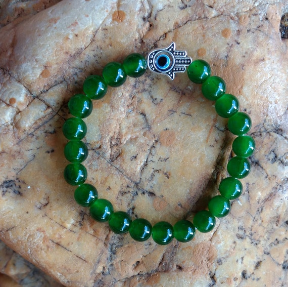 Orula Evil Eye Hamsa Hand Of God Good Luck Bracelet Contra Etsy