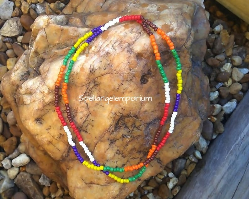 7 African Powers Eleke Blessed Necklace ~ Collar de Siete Potencias  Africanas Bendecido ~Seven African Powers ~ Santeria / Ifa / Yoruba~