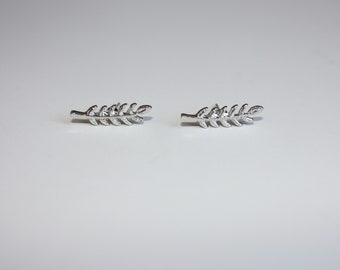Feather earrings  - Feather studs  - Feather jewelry - Feathers - Silver feathers - dream catcher - silver studs