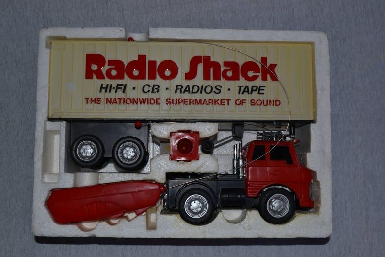 Vintage Radio Shack R/C Tractor Trailor Truck w/Box
