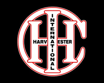 "International Harvester Logo Peel Off Sticker 6/"" x 6/"""