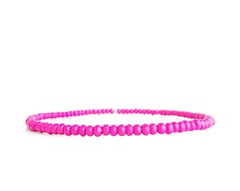 Pink wooden beads - Leg jewelry - Beaded bracelet - Minimalist jewelry - Handmade jewelry - Knee bracelet - Wooden beads - Kneelet