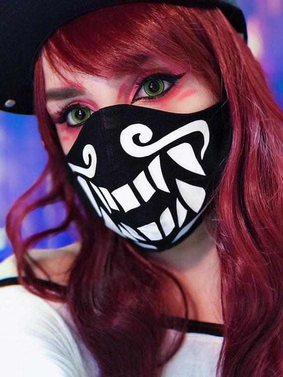 Face Mask Akali Mask Pop Stars K Da Cosplay Tutorial Etsy