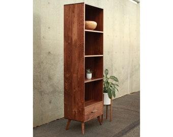 Mid-Century Modern 'FULLSTACK' Bookcase (shown in Walnut)