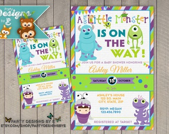 Monsters inc baby shower invitations etsy monsters inc baby shower invitation a little monster baby shower invitation monster baby shower invite for boy or girl printable filmwisefo