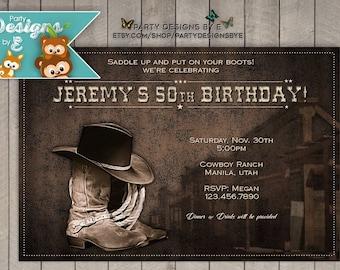 Wild West Birthday Party Invitations