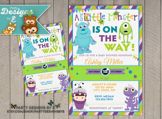 Monsters Inc Baby Shower Invitation A Little Monster Baby Etsy