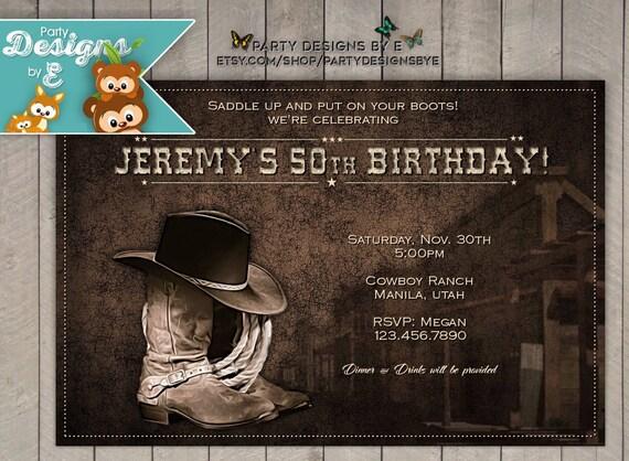 Wild west birthday party invitations cowboy birthday etsy image 0 filmwisefo