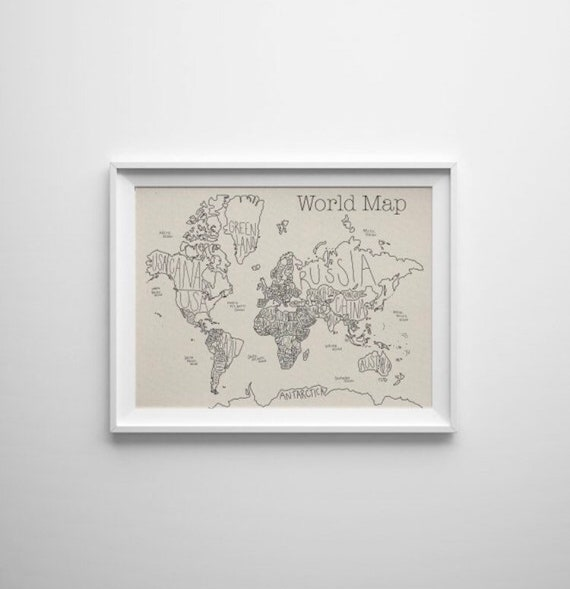 Color Your Own World Map.Diy World Travel Push Pin Map Color By State Tracking Family Etsy