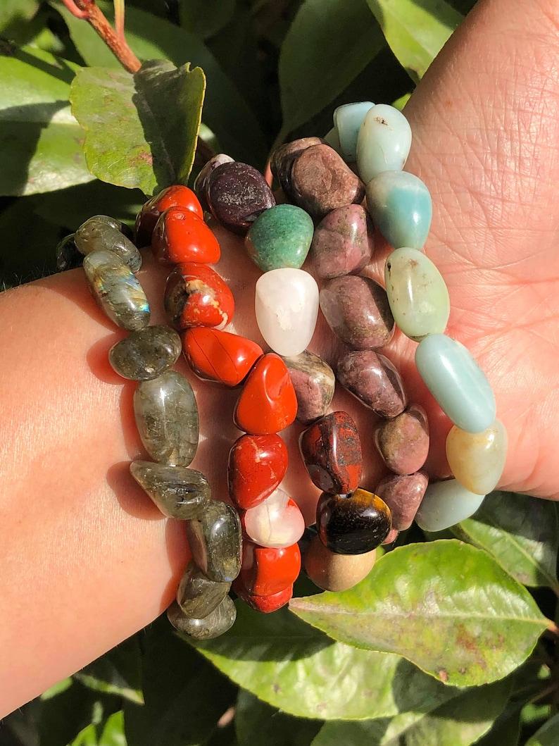 Multi Stone Chunky Stretchy Bracelet