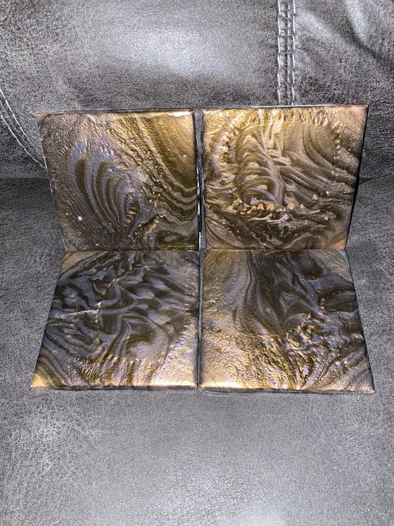 Gold & Silver Drink Coasters