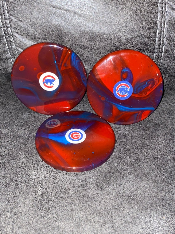 Handmade Chicago Cubs Coasters