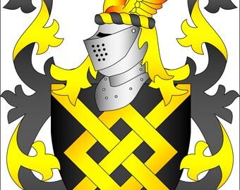 Custom Coat of Arms/ Heraldry