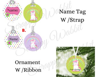 Ornament Backpack Name Tag Customized Name Tag Personalized Dance Bag Luggage Tag Sports Bag Diaper Bag Tags Christmas Ornament