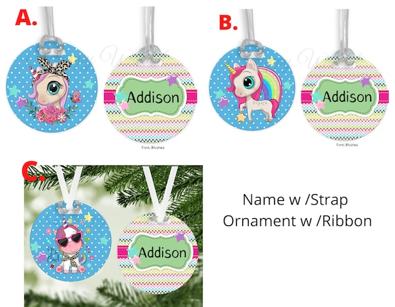 Christmas Ornament Luggage Tag Name Tag Customized Backpack Name Tag Personalized Diaper Bag Tags Ornament Dance Bag Sports Bag