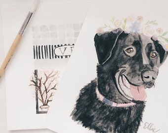 Custom Pet Portrait | Watercolor