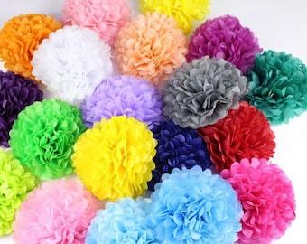 Flower pom poms etsy mightylinksfo