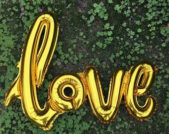 Ballon d'or amour mariage, Bridal Shower décorations, Accessoires Photo, Dessert Table Decor Mylar or ballon, anniversaire, Baby Shower, Saint-Valentin