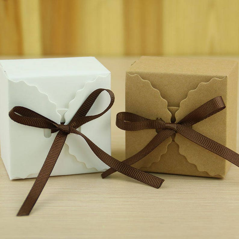 1pcs 50pcs100pcs Kraft Gift  Boxes  Candy Box  Treat image 0