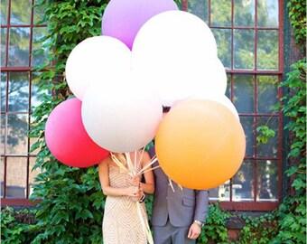 36 inch Rainbow Balloons /  Birthday Balloon Bouquet Kit Balloon Set Giant Birthday Bouquet Kit Balloon Set Baby ShowerBaby Shower