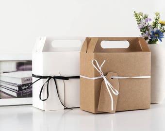 1pcs ,50pcs,100pcs Kraft Gift  Boxes - Candy Box - Treat Boxes-Party Boxes -Birthday Party -Gift Box -Favor Boxes -Wedding Favor Boxes