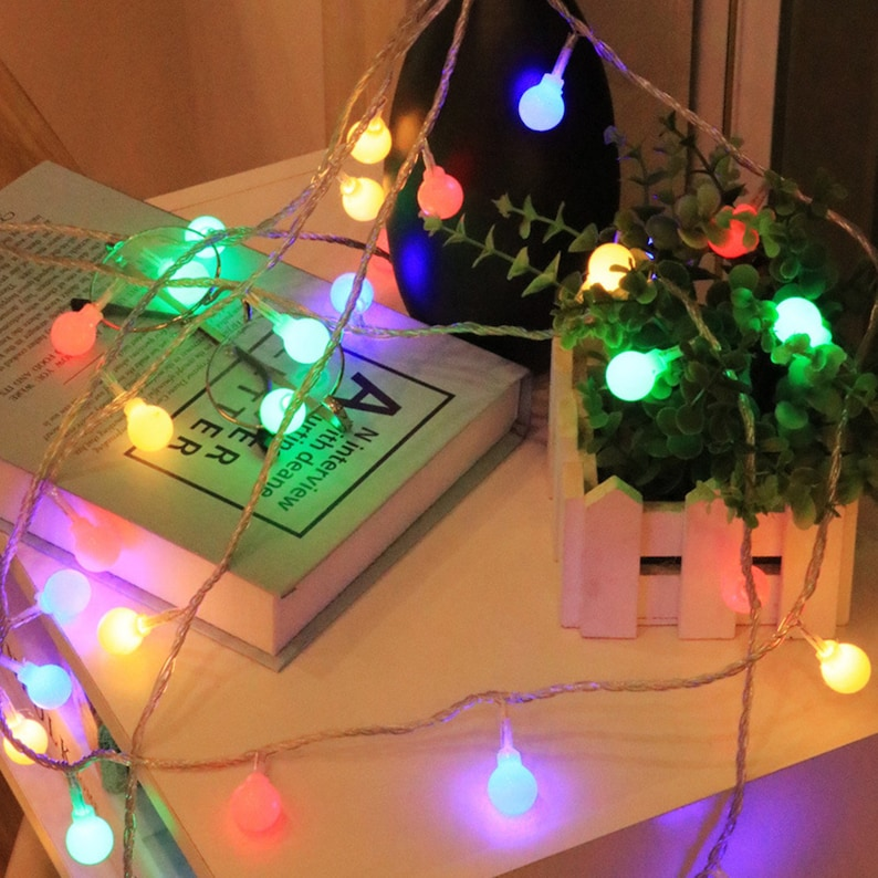 3m Led Christmas Lights Round Lamp String Battery Operate Twinkle Light String Christmas Party Light Wedding Garden Outdoor Indoor