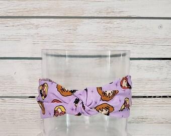 Luna glasses Scrunchy fits kids to adults wizard magic Purple Luna Scrunchie