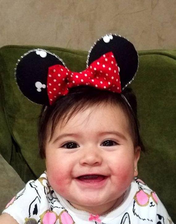 Baby Minnie Ears Disney inspired ears Disney Ears Baby  a51d7931b23