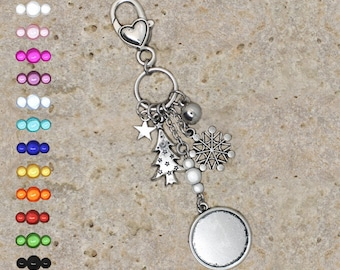 support cabochon 20 mm, snowflake, tree jewelry
