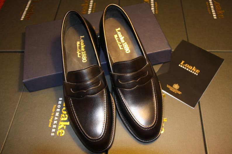 608e93ac227 Handmade Black Loafers Loake. Premum Collection. Leather Sole