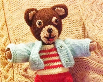 KNITTING pdf tutorial/pattern: little brown bear