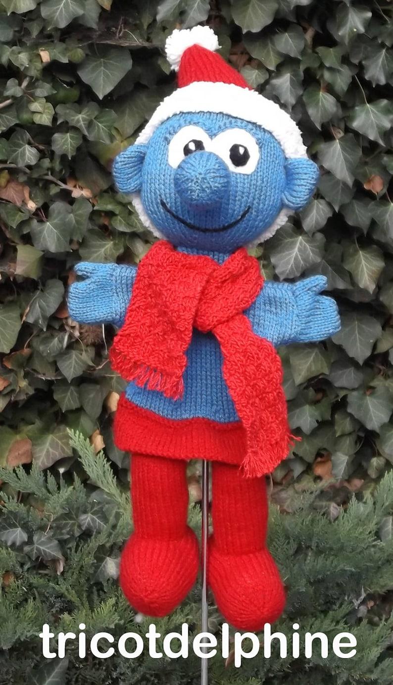 Knitting pattern toy Puppet Smurf christmas xmas amigurumi ...